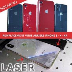 remplacement vitre arriere laser iphone