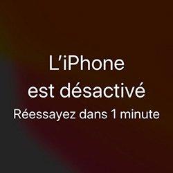 iPhone désactivé